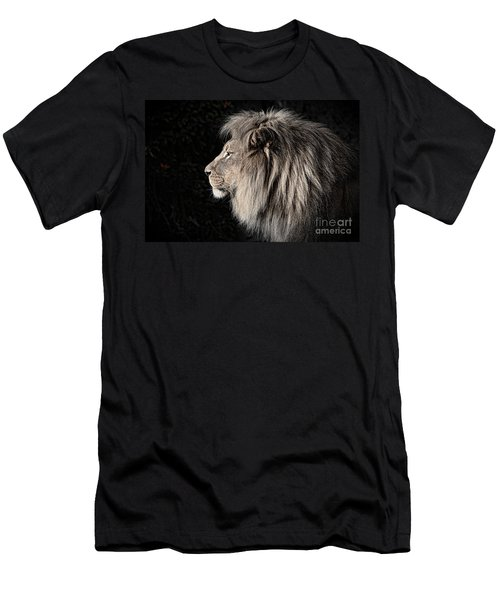 Portrait Of The King Of The Jungle II Men's T-Shirt (Athletic Fit)