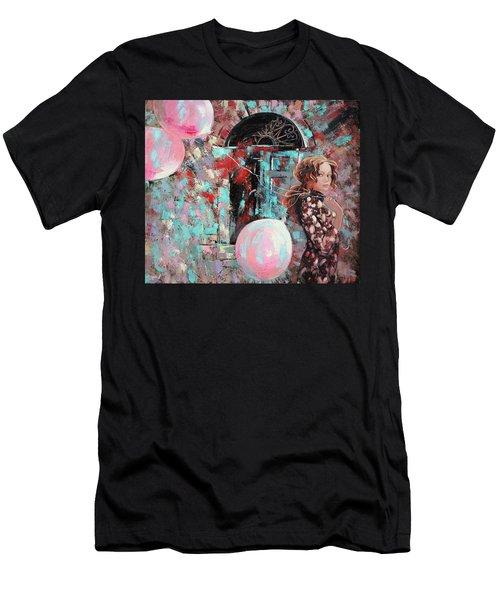 Portrait. Pink Dreams Men's T-Shirt (Athletic Fit)