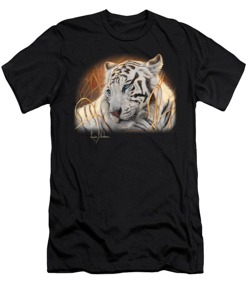 Portrait White Tiger 1 Men's T-Shirt (Athletic Fit)
