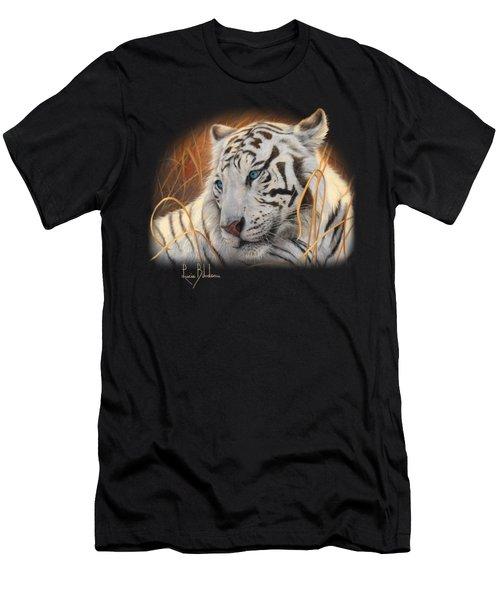 Portrait White Tiger 1 Men's T-Shirt (Athletic Fit)