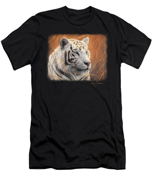 Portrait White Tiger 2 Men's T-Shirt (Athletic Fit)