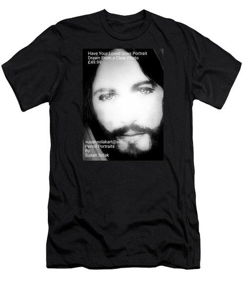 Men's T-Shirt (Slim Fit) featuring the painting Portraits by Susan  Solak