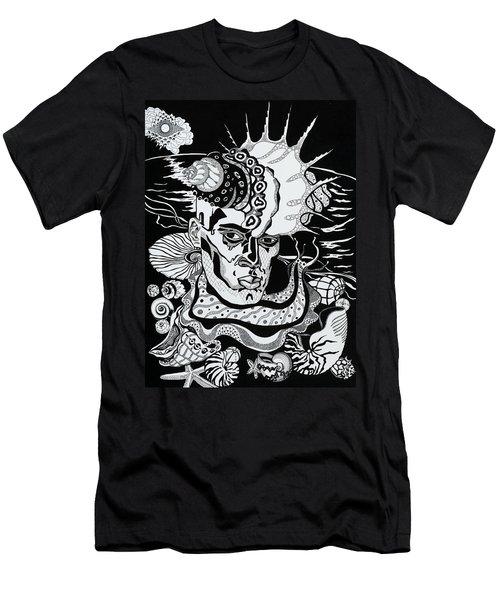 Poseidon Men's T-Shirt (Slim Fit) by Yelena Tylkina
