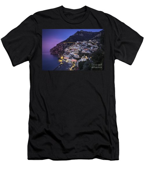 Men's T-Shirt (Athletic Fit) featuring the photograph Positano Twilight by Brian Jannsen