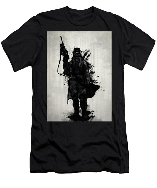 Post Apocalyptic Warrior Men's T-Shirt (Athletic Fit)