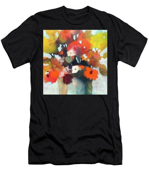 Men's T-Shirt (Athletic Fit) featuring the painting Pot Of Flowers by Michelle Abrams