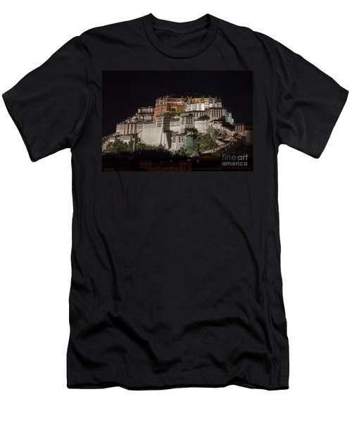 Potala Palace At Night Men's T-Shirt (Athletic Fit)