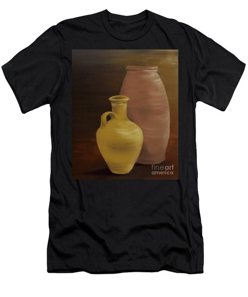 Men's T-Shirt (Slim Fit) featuring the painting Pottery by Annemeet Hasidi- van der Leij
