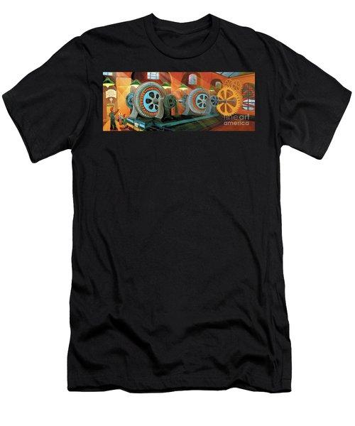 Power Plant Turbines Men's T-Shirt (Athletic Fit)