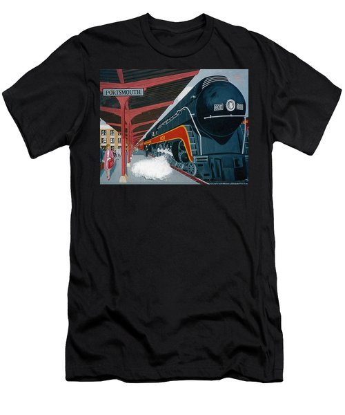 Powhattan Arrow At Portsmouth Men's T-Shirt (Slim Fit) by Frank Hunter