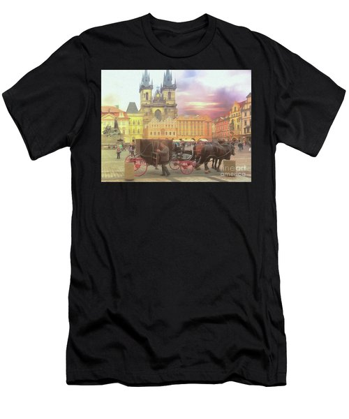 Prague Old Town Square Men's T-Shirt (Athletic Fit)