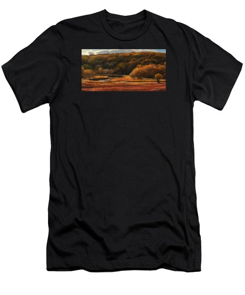 Prairie Autumn Stream No.2 Men's T-Shirt (Athletic Fit)
