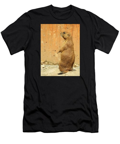 Men's T-Shirt (Slim Fit) featuring the photograph Prairie Dog Profile by Robin Regan