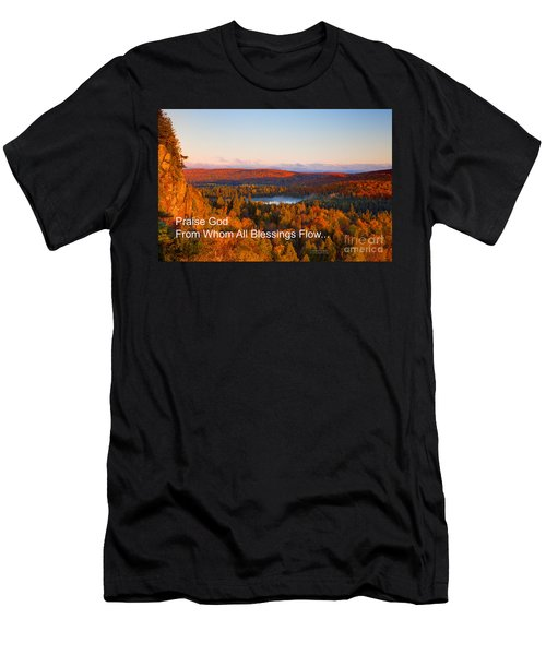 Praise God From Whom All Blessings Flow Men's T-Shirt (Athletic Fit)
