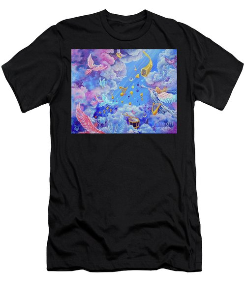 Praise Him From The Heavens Men's T-Shirt (Athletic Fit)