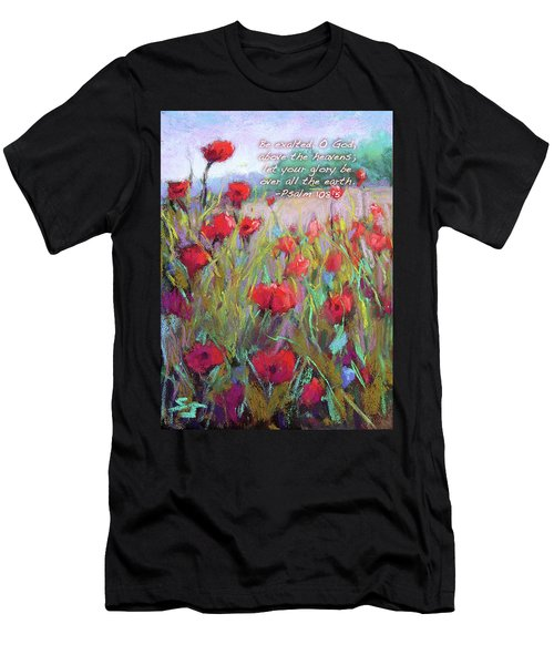 Praising Poppies With Bible Verse Men's T-Shirt (Athletic Fit)