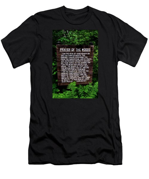 Prayer Of The Woods Men's T-Shirt (Slim Fit) by Michelle Calkins