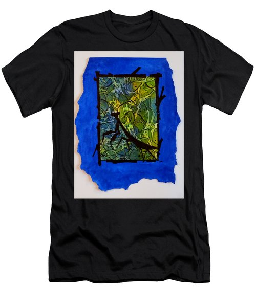 Praying Mantis Silhouette Men's T-Shirt (Athletic Fit)