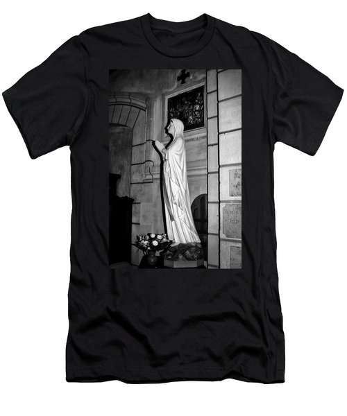Men's T-Shirt (Athletic Fit) featuring the photograph Praying Nun 2 by Elf Evans