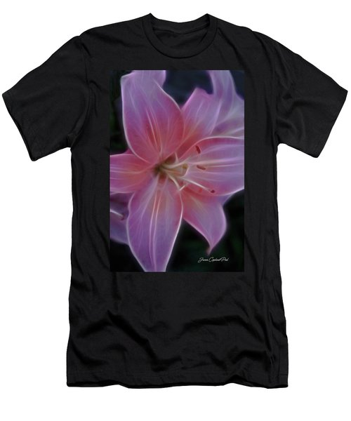 Precious Pink Lily Men's T-Shirt (Slim Fit) by Joann Copeland-Paul