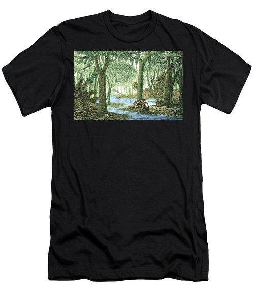 Prehistoric Flora, Carboniferous Period Men's T-Shirt (Athletic Fit)