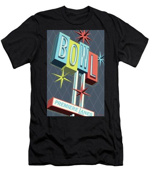 Premiere Lanes Bowling Pop Art Men's T-Shirt (Athletic Fit)
