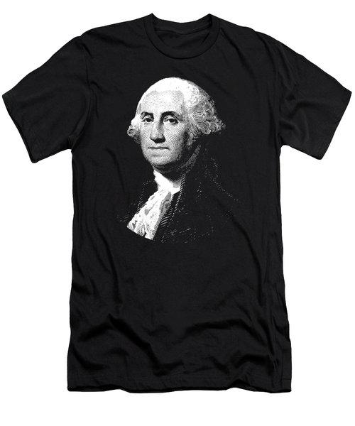 President George Washington Graphic  Men's T-Shirt (Slim Fit) by War Is Hell Store