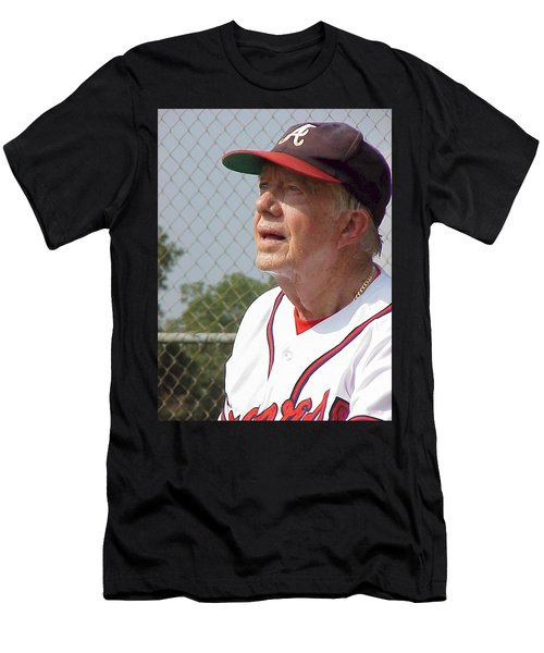 President Jimmy Carter - Atlanta Braves Jersey And Cap Men's T-Shirt (Athletic Fit)