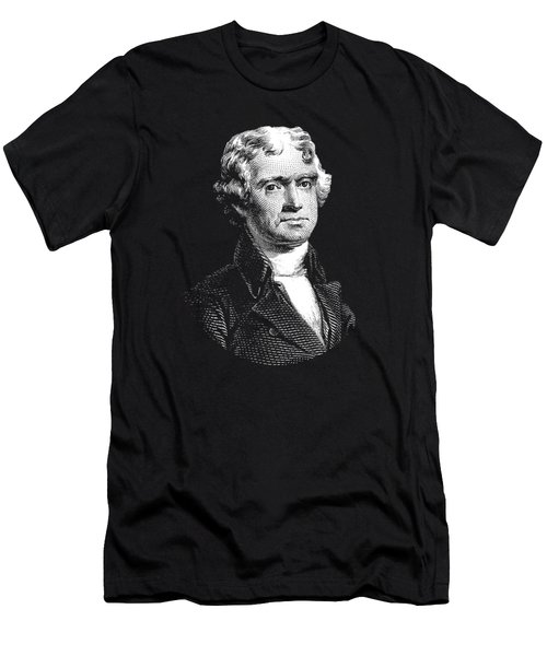 President Thomas Jefferson - Black And White Men's T-Shirt (Slim Fit) by War Is Hell Store
