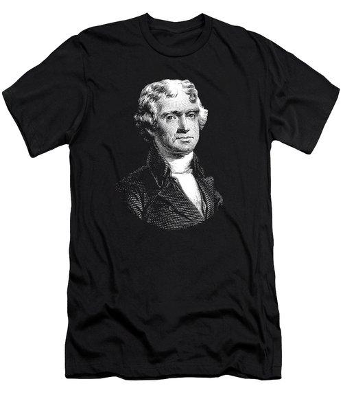 President Thomas Jefferson - Black And White Men's T-Shirt (Athletic Fit)