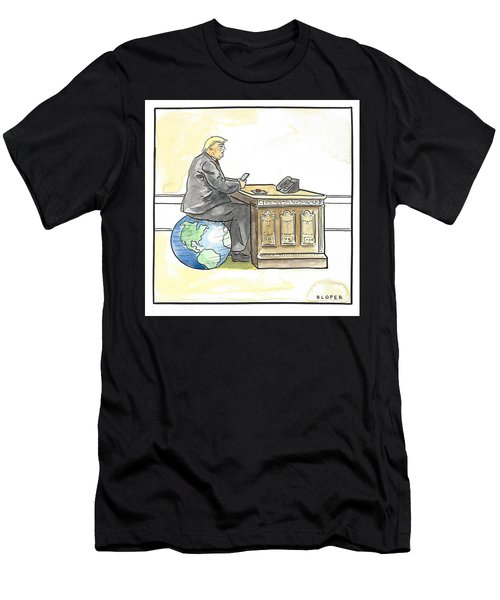 President Trump In The Seat Of Power Men's T-Shirt (Athletic Fit)
