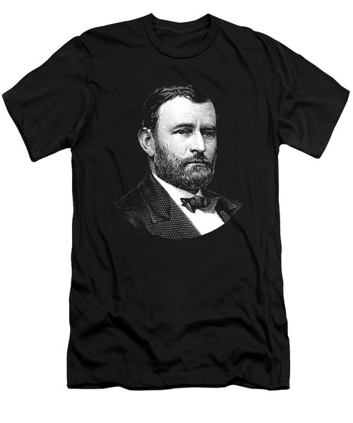 President Ulysses S. Grant Graphic Three Men's T-Shirt (Athletic Fit)