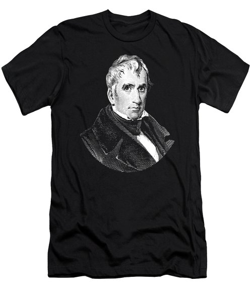 President William Henry Harrison Graphic - Black And White Men's T-Shirt (Athletic Fit)