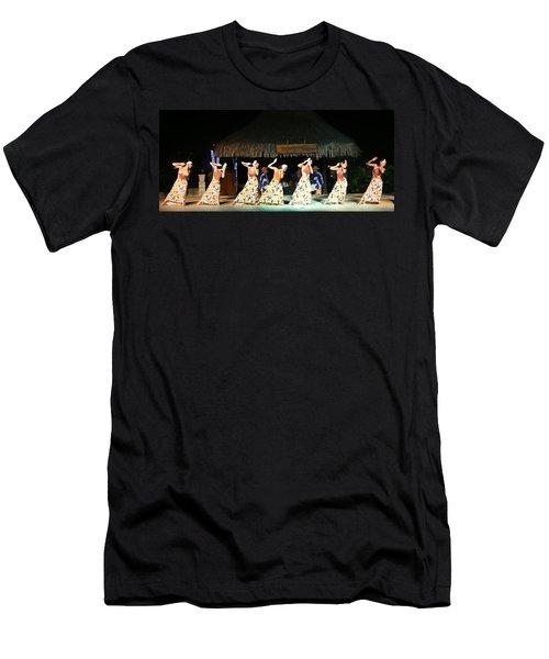 Pretty Dancers In Tahiti Men's T-Shirt (Athletic Fit)