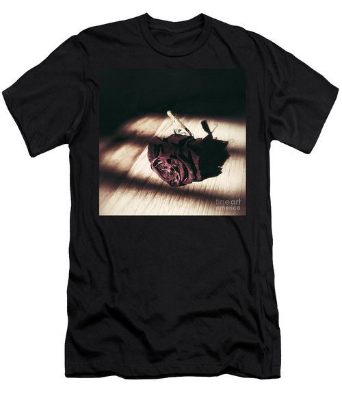 Pretty Dead Rose Resting In The Warm Sun Men's T-Shirt (Athletic Fit)