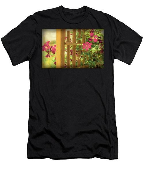 Pretty Flower Garden Men's T-Shirt (Athletic Fit)