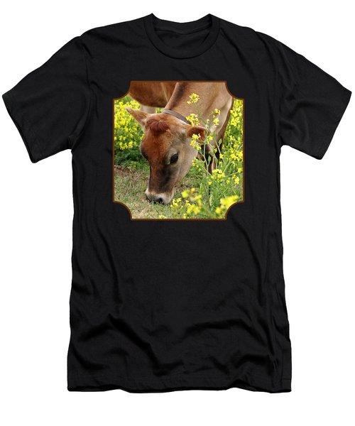 Pretty Jersey Cow - Vertical Men's T-Shirt (Athletic Fit)