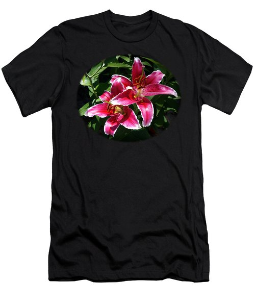 Pretty Lilies Men's T-Shirt (Athletic Fit)