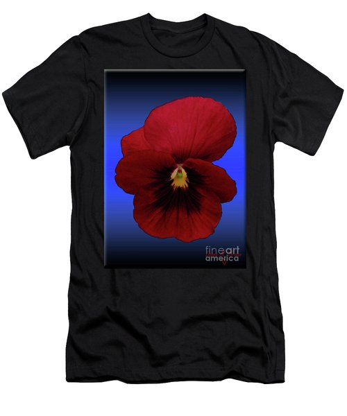 Men's T-Shirt (Slim Fit) featuring the photograph Pretty Pansy by Donna Brown