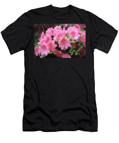 Pretty Pink Azalea Blossoms Men's T-Shirt (Athletic Fit)