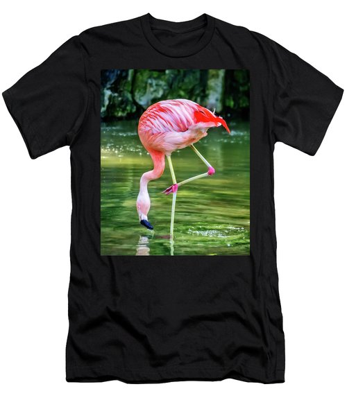 Pretty Pink Flamingo Men's T-Shirt (Athletic Fit)
