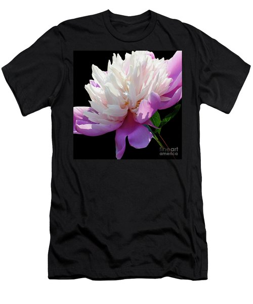 Pretty Pink Peony Flower Wall Art Men's T-Shirt (Athletic Fit)
