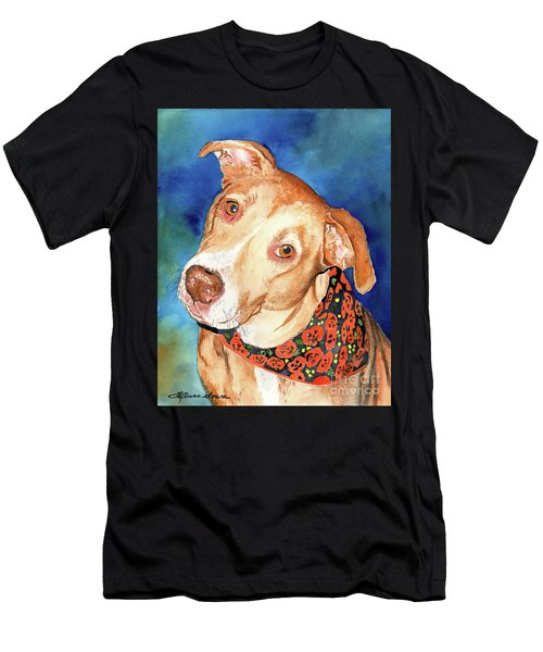 Pretty Please, Dog Portrait, Dog Painting, Dog Print, Dog Art Men's T-Shirt (Athletic Fit)