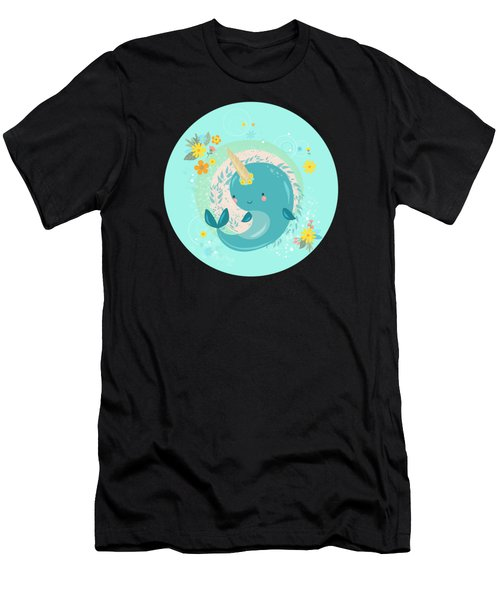 Pretty Princess Narwhal Men's T-Shirt (Athletic Fit)