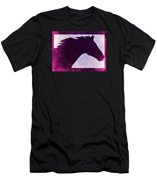 Pretty Purple Horse  Men's T-Shirt (Athletic Fit)