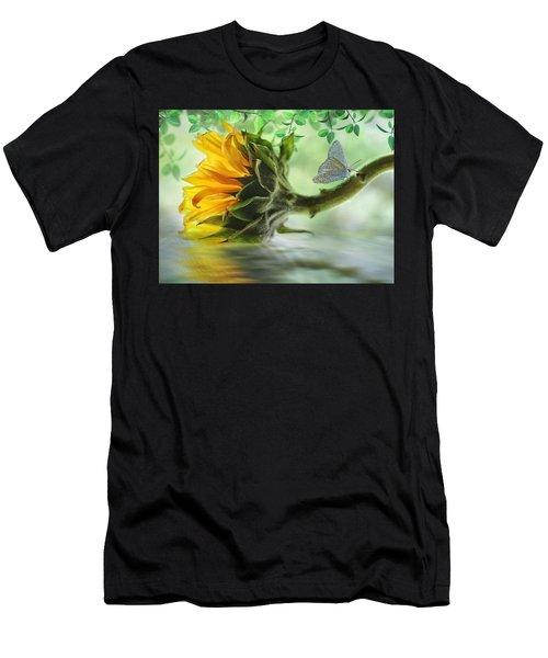 Pretty Sunflower Men's T-Shirt (Athletic Fit)