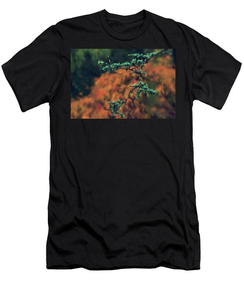 Men's T-Shirt (Athletic Fit) featuring the photograph Prickly Green by Gene Garnace
