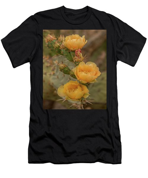 Prickly Pear Blossom Trio Men's T-Shirt (Athletic Fit)