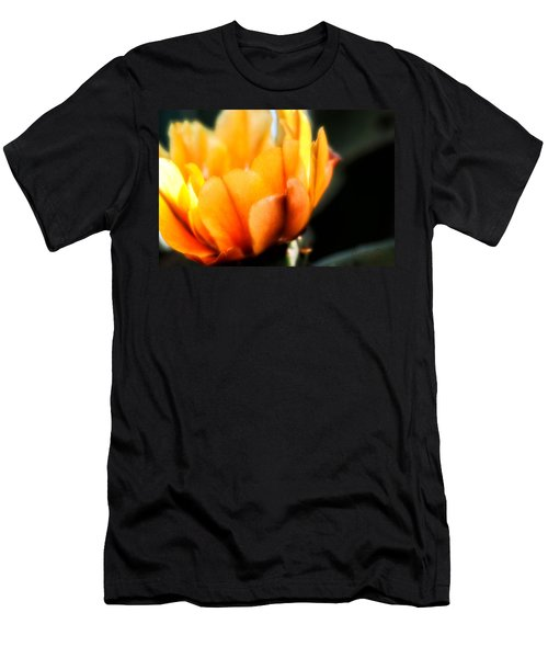 Men's T-Shirt (Slim Fit) featuring the photograph Prickly Pear Flower by Lynn Geoffroy