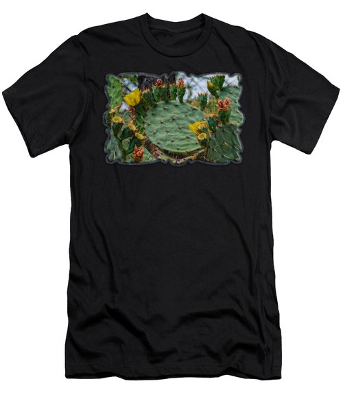Prickly Pear Flowers H35 Men's T-Shirt (Athletic Fit)